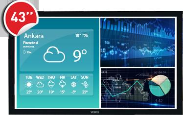 """43"""" Bilgilendirme Ekranı (400 Nit) Windows Tabanlı"""