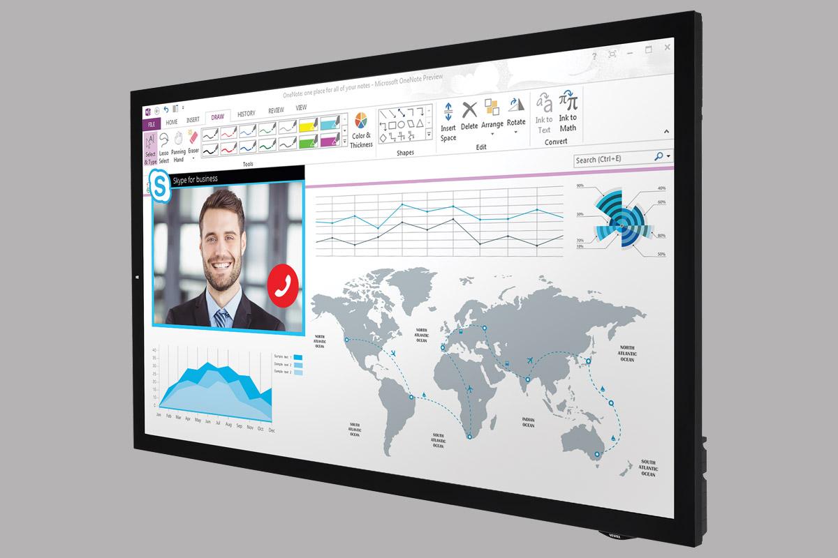 """65"""" Capacitive Touch Çerçevesiz Etkileşimli LED Akıllı Tahta"""
