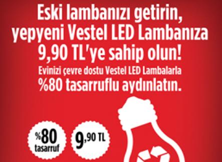 Evler, Vestel Geri Dönüşüm kampanyasıyla LED'lerle aydınlanıyor